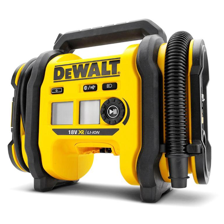 Компресор DeWALT акумулаторен безмаслен без батерия и зарядно 6.2 bar, 6 л, 18 V, DCC018N