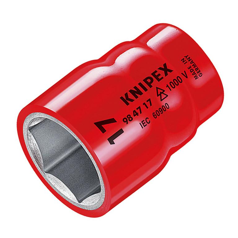 """Вложка KNIPEX с вътрешен 6-стен, изолирана 1/2"""" 11 мм"""